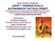 EATR ENERGETICALLY AUTONOMOUS TACTICAL ROBOT