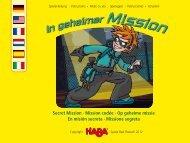 Secret Mission · Mission codée · Op geheime ... - Wehrfritz GmbH