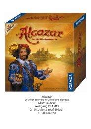 Alcazar Kosmos 2009 Wolfgang KRAMER 2 - 5 spelers vanaf 10 jaar ± 120 minuten