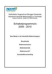 Schakelprogramma's 2009 - 2010