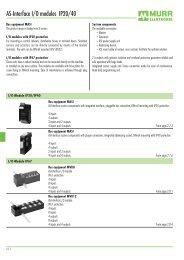 AS-Interface I/O modules IP20/40