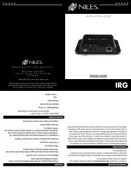DS00602A-1 IRG.indd - Niles Audio