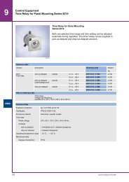 Control Equipment Time Relay for Panel Mounting Series 8214