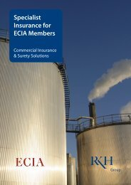 Specialist Insurance for ECIA Members