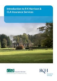 Introduction to R K Harrison & CLA Insurance Services