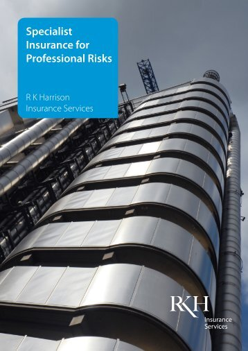 Specialist Insurance for Professional Risks
