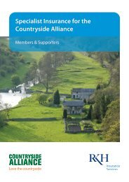 Specialist Insurance for the Countryside Alliance