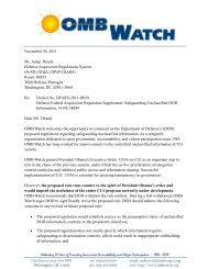 Safeguarding Unclassified DOD Information - OMB Watch