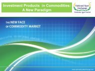 Investment Products in Commodities A New Paradigm
