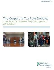 The Corporate Tax Rate Debate