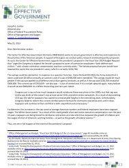 letter to Joe Jordan - OMB Watch