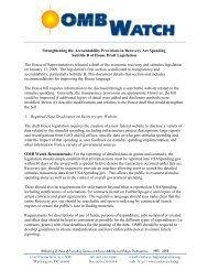 analyzed - OMB Watch