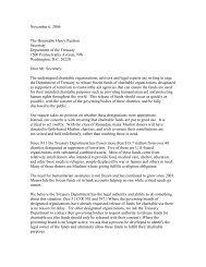Letter to Secretary Paulson, Nov. 6, 2006 - OMB Watch