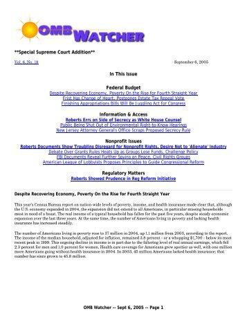 PDF Version - OMB Watch