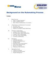 Background on the Rulemaking Process