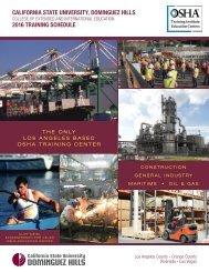 2016 CSUDH OSHA Course Catalog
