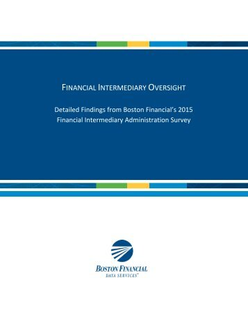 FINANCIAL INTERMEDIARY OVERSIGHT
