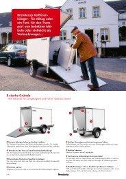 Kofferanhänger Transport Möbeln