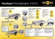 Humbaur Preishighlights 1/ 2013