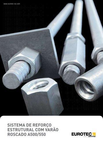 sistema de reforço estrutural com varão roscado a500/550