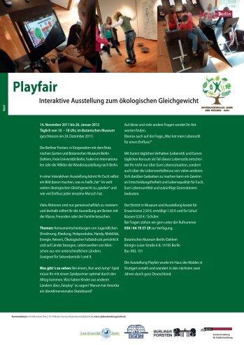 Playfair - Interaktive Ausstellung zum ökologischen ... - Berlin.de
