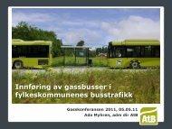 Innføring av gassbusser i fylkeskommunenes busstrafikk