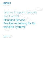 Managed Service Provider distributed system guide - Sophos