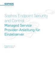 Managed Service Provider-Anleitung für Einzelserver - Sophos