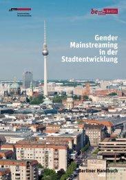 Gender Mainstreaming in der Stadtentwicklung - Senatsverwaltung ...
