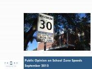 Public Opinion on School Zone Speeds September 2015