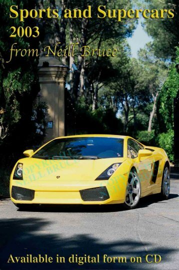 Sports cars 2003 - Neill Bruce