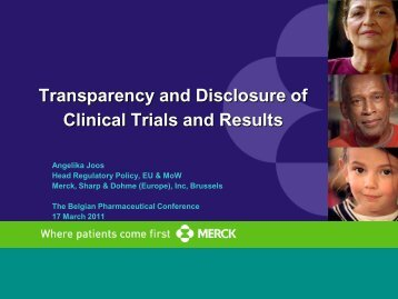 Transparency and Disclosure of Clinical Trials and Results