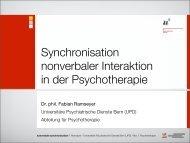 Synchronisation nonverbaler Interaktion in der Psychotherapie