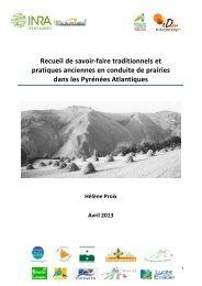 Recueil de savoirs H Proix 24 avril 2013 - Chambre d'agriculture ...