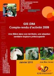 GIS iD64 Compte-rendu d'activité 2009
