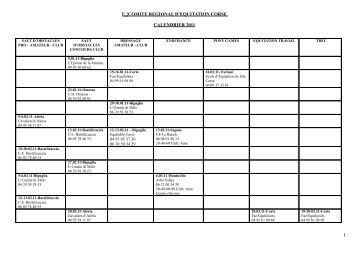u !comite regional d'equitation corse calendrier ... - Equitable-Corse