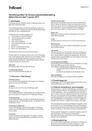 Försäkringsvillkor för Kommunolycksfallsförsäkring Gäller från och ...