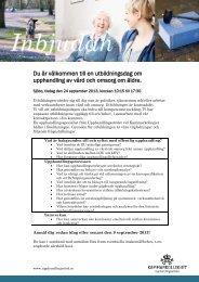 Inbjudan till utbildningsdag (PDF-dokument, 311 kB) - Sjöbo kommun