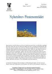 Nyhetsbrev Piratenområdet maj-juni (PDF ... - Sjöbo kommun