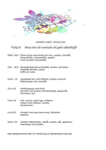 Vecka18 Missa inte vår varierade och goda salladsbuffé