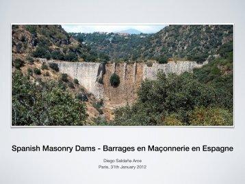 Spanish Masonry Dams - Barrages en Maçonnerie en Espagne