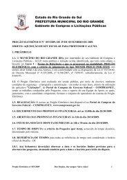 pregão eletrônico nº /2007, de 31 de agosto de 2007 - Prefeitura Rio ...