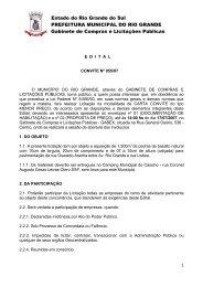 Estado do Rio Grande do Sul PREFEITURA MUNICIPAL DO RIO ...