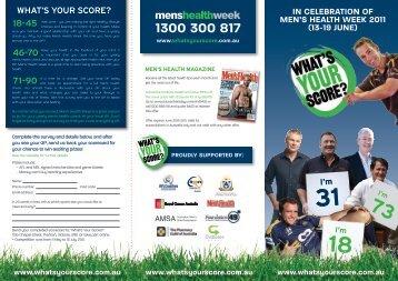 Men's Health Week 2011 brochure - Virtual Medical Centre