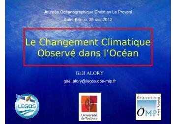 Le Changement Climatique Observé dans l'Océan