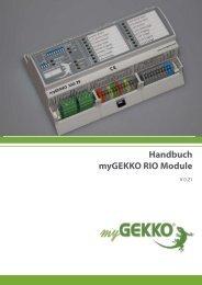 Handbuch myGEKKO RIO Module