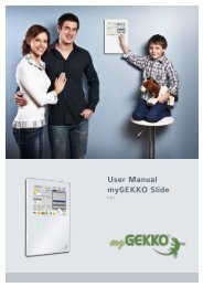 User Manual myGEKKO Slide
