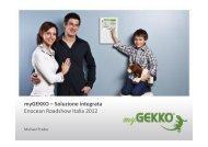 myGEKKO – Soluzione integrata Enocean Roadshow Italia 2012