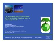 The Technology Mechanism and - Arab Climate Resilience Initiative
