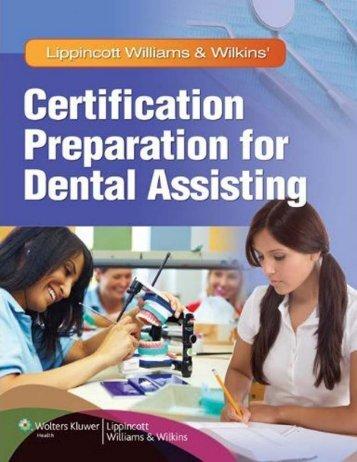 Certification Preparation for Dental Assisting